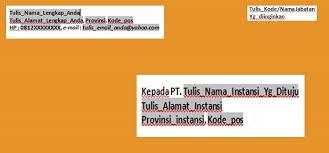 format artikel yang benar format penulisan alamat surat lamaran kerja