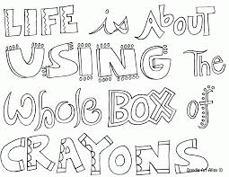 doodle art alley all quotes coloring pages coloring home
