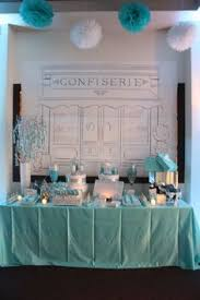 Tiffany Blue Candy Buffet by Breakfast At Tiffany Theme Candy And Dessert Buffet Tables