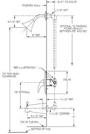 Install A Shower Faucet Shower Control Rough In American Standard Master Bath