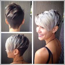 pixie grey hair styles beautiful silver ombre hairstyles for short hair