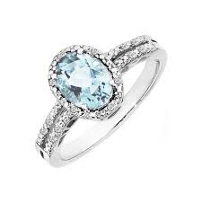 topaz engagement ring diamonds international blue topaz diamond ring oh shiny