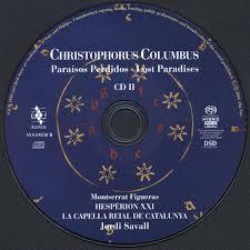 jordi savall u0026 hesperion xxi christophorus columbus 2006 2cd