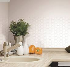 Tile Decals For Kitchen Backsplash Hexagon 4 White Tiles Kitchen Wall Backsplash Peel U0026 Stick 10 5