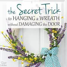how to hang a wreath without damaging the door decor by the seashore