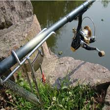 Fishing Pole Ceiling Fan by Double Spring Fishing Stand Bracket Fishing Rod Pole Stand Us 16 10