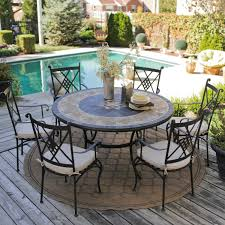 Patio Dining Sets Seats 6 - round patio table set for 6 icamblog