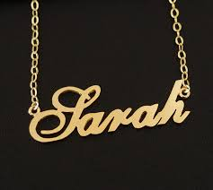 gold name plate necklace nameplate necklace personalized necklace 18k gold 925 sterling