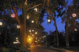 winter park christmas lights lighted christmas balls winter park florida shining bright
