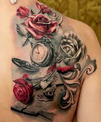 for those flower pocket tattoos color