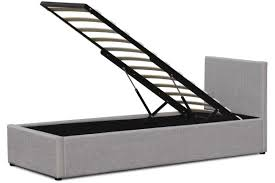 Lifting Bed Frame by Richmond Grey Fabric Gas Lift Up Ottoman Storage Bed Double King