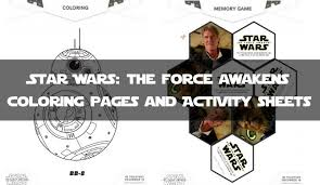 star wars force awakens coloring pages activity sheets