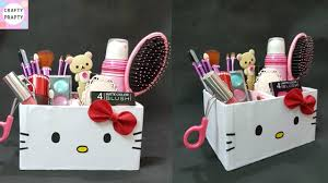 Makeup Organizer Desk Diy Desk Organizer Diy Makeup Organizer Cajas Organizadoras De