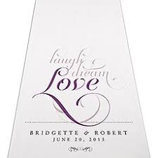 Personalized Aisle Runner Contemporary Vintage Personalized Aisle Runner The Knot Shop