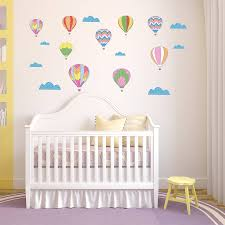 vintage hot air balloon wall stickers by parkins interiors vintage hot air balloon wall stickers