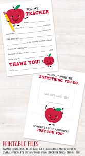 thank you cards for teachers thank you cards for teachers collections printable