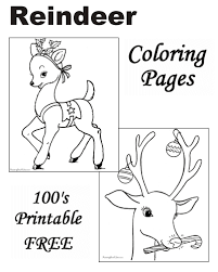 reindeer coloring pages christmas