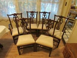 ethan allen georgian court chippendale dining chairs 11 6060