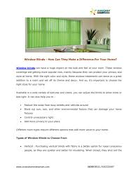 window blinds how can they make a difference for your home by