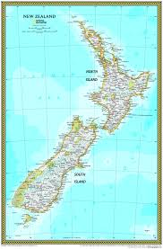 New Zealand On Map Map Of Eastern Seaboard My Blog