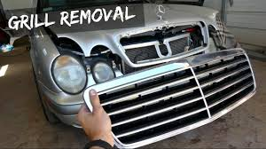 mercedes grill mercedes w208 w210 grill removal replacement