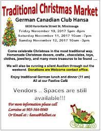 traditional christmas market hansa haus german canadian club