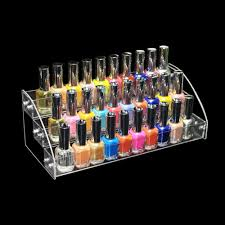 amazon com 3 tiers acrylic display case shelves nail polishes