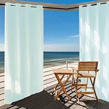 amazon com privacy outdoor single window curtain panel 50x120