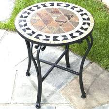 small metal outdoor end tables small metal patio table epicsafuelservices com