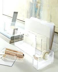 Lucite Desk Accessories Lucite Desk Accessories Acrylic Kate Spade Set Interque Co
