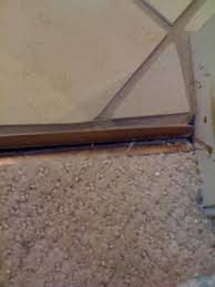 tile carpet threshold bad can it be fixed flooring diy