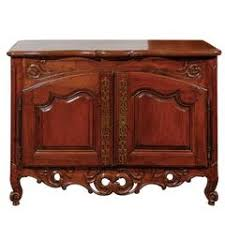 rococo period carved oak buffet germany circa 1760 with painted