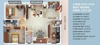 2 Bedroom House Plans Vastu Floor Plan Pala Homes India Pvt Ltd Blue Lotus Park At