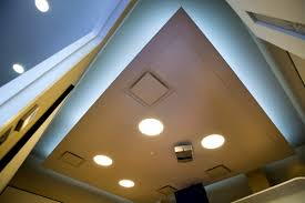 floating ecophon wing sound absorbing acoustic ceiling system