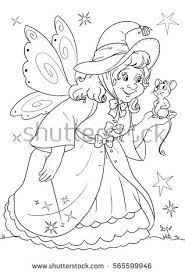 coloring cinderellas fairy godmother stock illustration