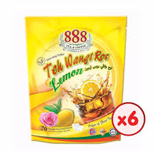 X Teh 888 teh wangi ros lemon pot bag 2g x 20 sachets bundle of 6