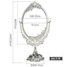 Cermin Dua Sisi pencarian termurah logam besar diukir desktop yang cermin rias