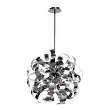 eglo fabiana 5 light chrome ceiling mount pendant 90577a the
