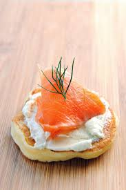 bellini canape single smoked salmon canape stock image image of spread blini