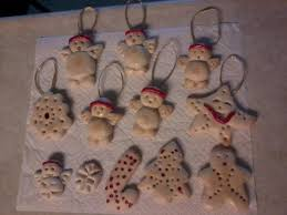 ornaments with play dough flour salt water and