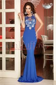 inpuff rochii rochie lunga din lycra albastra
