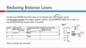 loan formulas reducing balance loans youtube