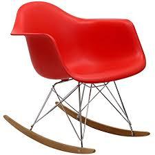 Molded Plastic Armchair Amazon Com Modway Molded Plastic Armchair Rocker In Red Kitchen