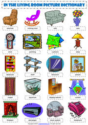 in the livingroom living room esl printable worksheets and exercises