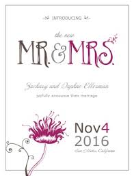 wedding announcements printable playful wedding announcement template