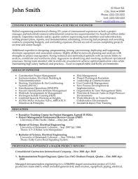 construction manager resume example construction manager resume