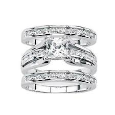 bridal ring set gail gorgeous 3 ring bridal wedding ring set lyne collection