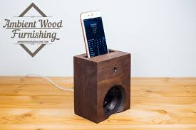 rustic acoustic phone speaker box electronic docking station