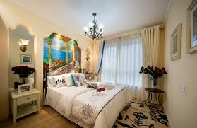 bed back wall design white wall paint color of mediterranean bedroom interior design