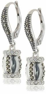 earrings and things judith 22clouds 22 sterling silver marcasite multi organic